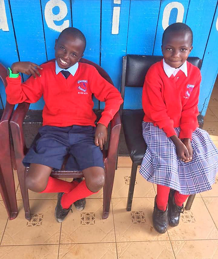 Two of our Pupils at New Highlight School, Kenya